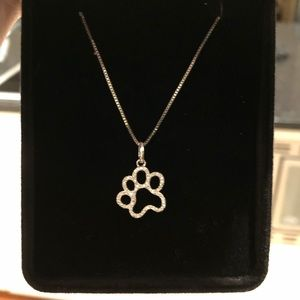 Sterling Silver Paw Print Pendant Necklace by Kay